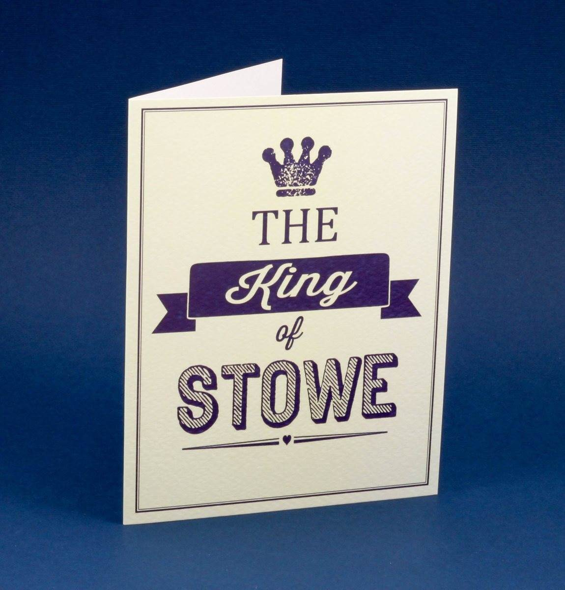 Stowe School King Of Stowe Greeting Card