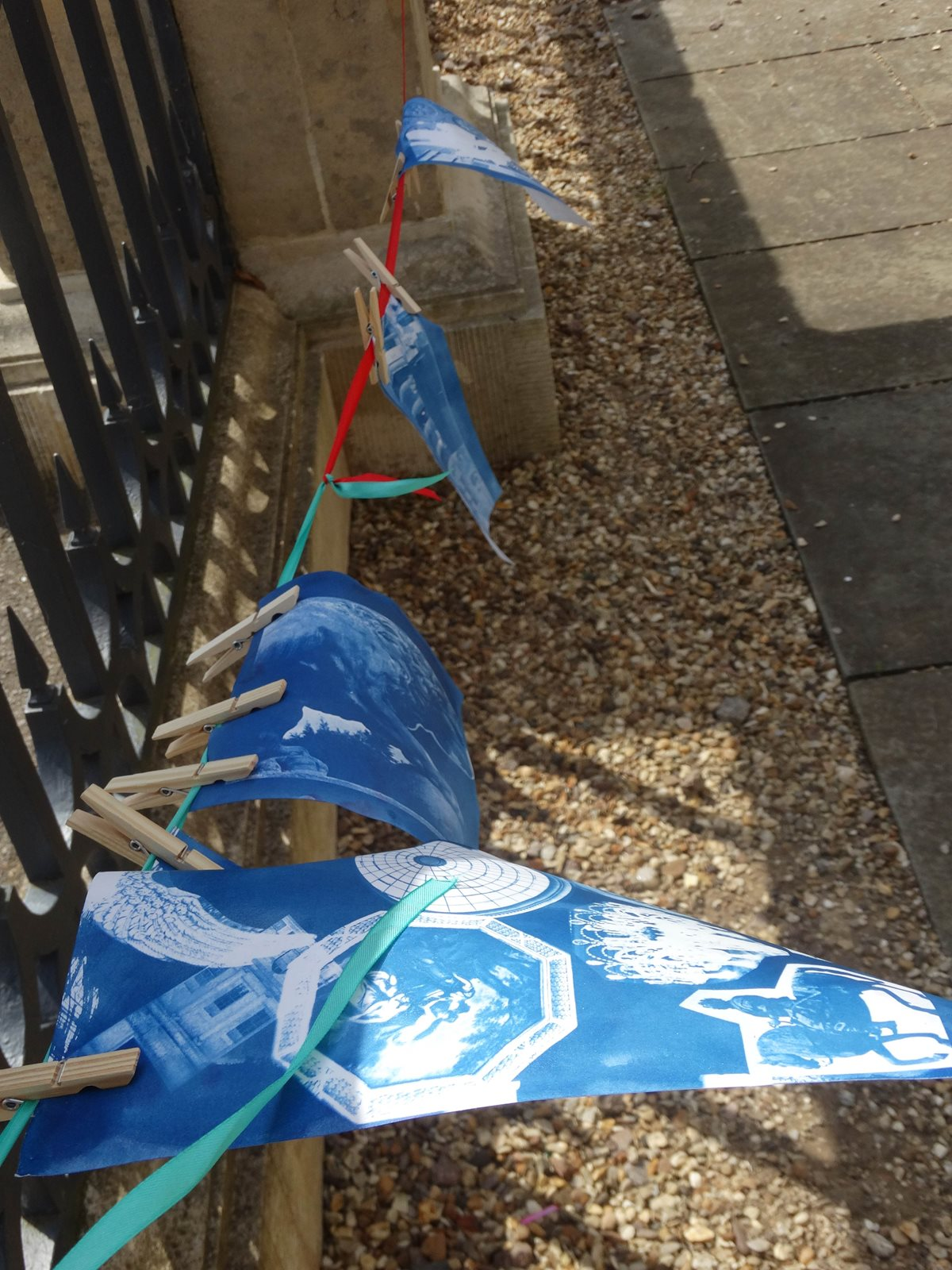 Cyanotypes-on-the-washing-line
